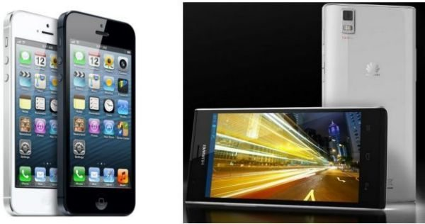 iPhone 5 vs Huawei Ascend P2 review of specs compared