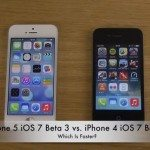 iPhone 5 vs iPhone 4 on iOS 7 Beta 3 in speed test