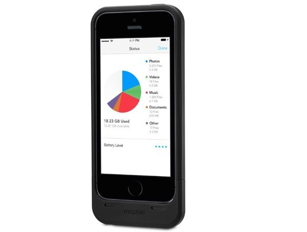 iPhone 5S and 5 Mophie Space Pack case UK release