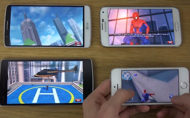 iPhone 5S vs. Galaxy S5 gaming with LG G3, OnePlus One