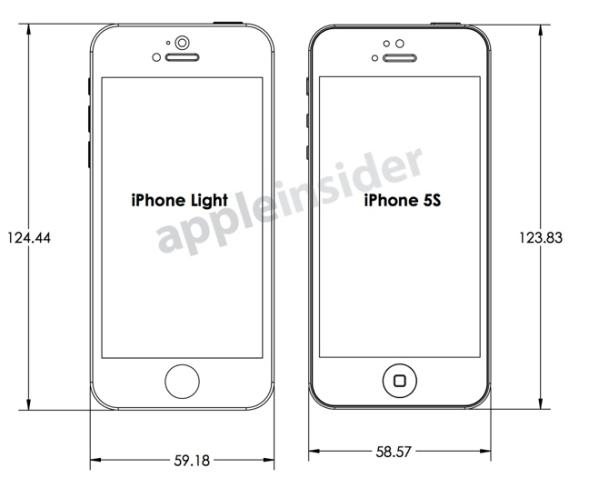 iPhone 5S vs. Light from design plans