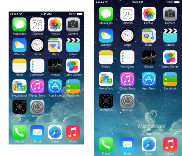 iPhone 6 4.7-inch screen shown with app logos