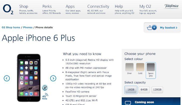 iPhone 6 Plus UK O2