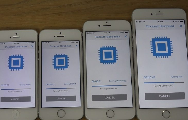 iPhone 6 Plus vs 6, 5s and 5 in benchmark and bootup tests
