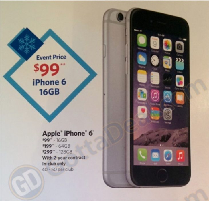 iPhone 6 Sam's Club deal