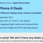 iPhone 6 deals page