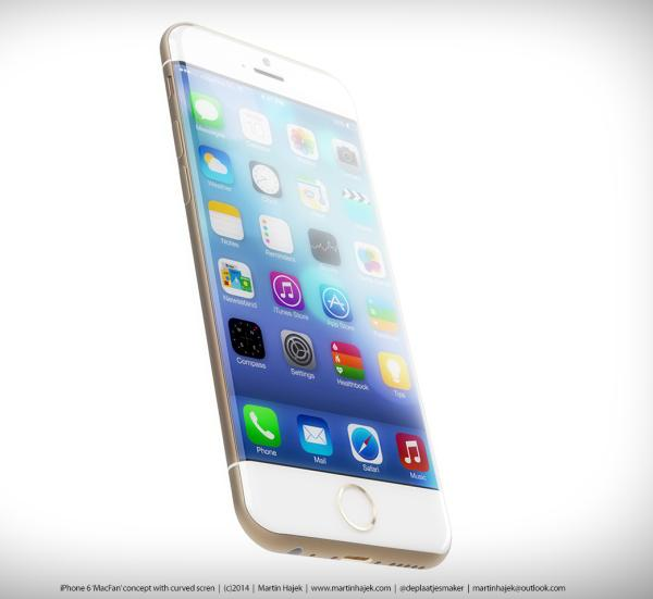 iPhone 6 design shows its curves