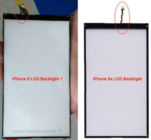 iPhone 6 display component shows itself