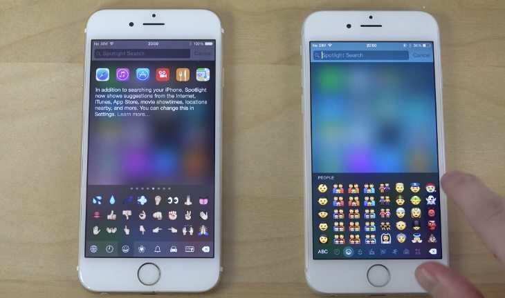 iPhone 6 iOS 8.2 update vs iOS 8.3 beta 3 , bootup and differences