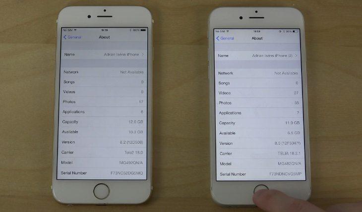 iPhone 6 iOS 8.3 beta 3 vs iOS 8.2
