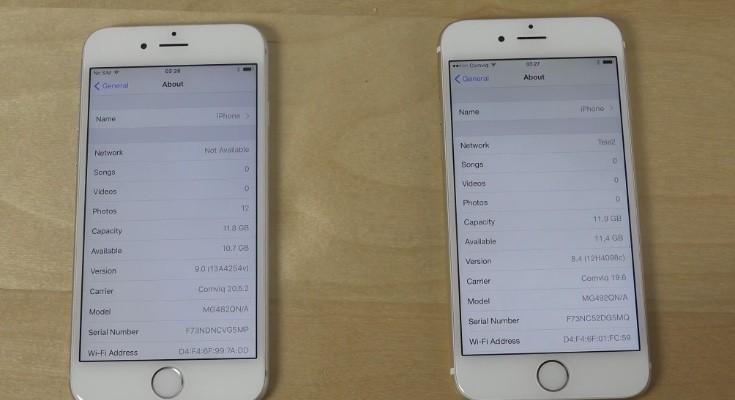 iPhone 6 iOS 9 beta 1 vs iOS 8.4 beta 3