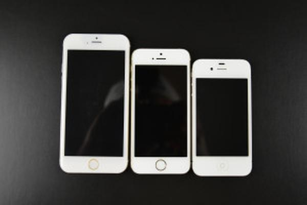 iPhone 6 pictured alongside previous models