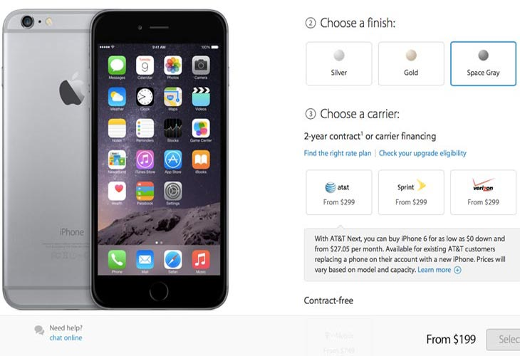 iPhone 6 pre-order with midnight release time