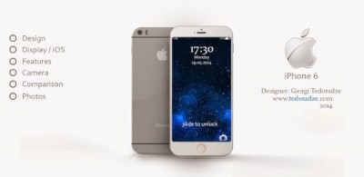 iPhone 6 render with iOS 9 and slimline style