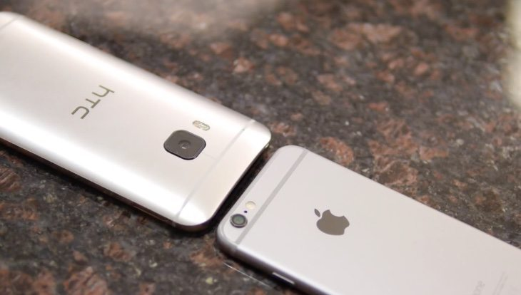 iPhone 6 vs HTC One M9 b