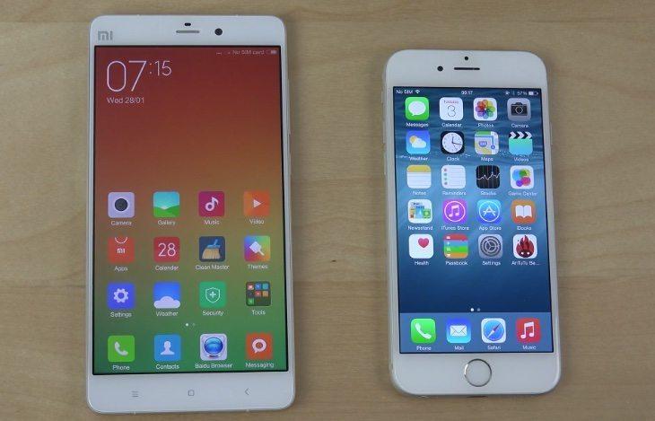 iPhone 6 vs Xiaomi Mi note bootup speeds