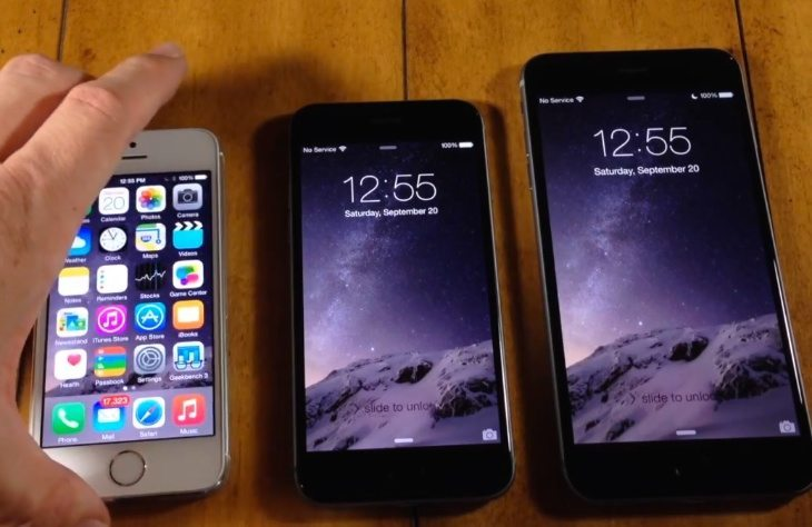 iPhone 6 vs. iPhone 5S, 6 Plus in speed test comparison
