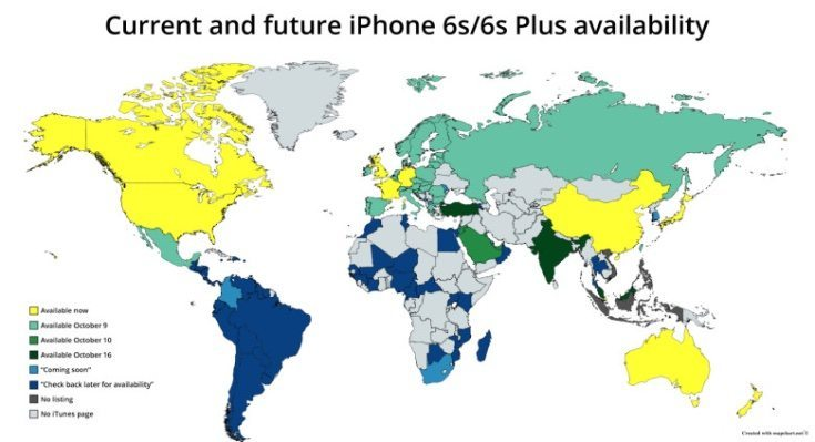 iPhone 6S global availability
