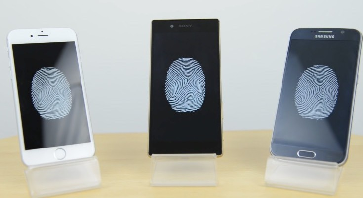 iPhone 6S vs Nexus 5X, Galaxy S6, Xperia Z5 fingerprint scanner speeds