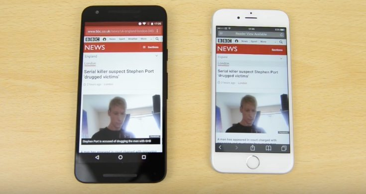 iPhone 6S vs Nexus 5X speed performance testing