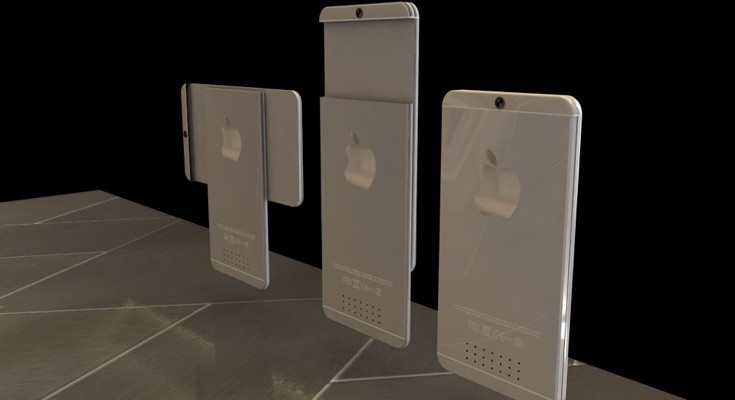 iPhone 6X concept with slideout secondary display