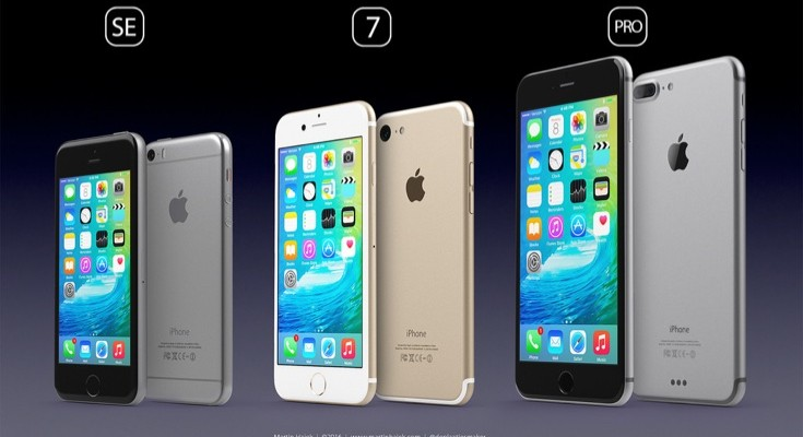 iPhone 7, Pro version and iPhone SE design renders
