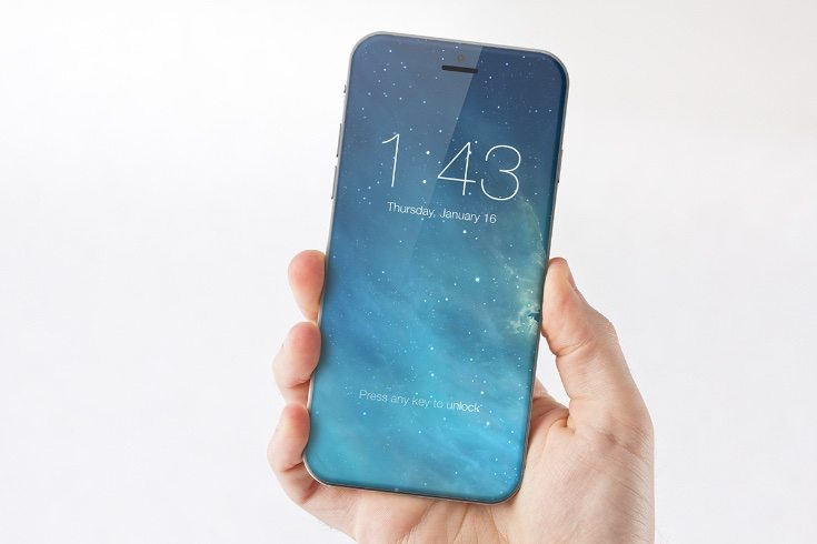 iPhone 7 render with iOS 10