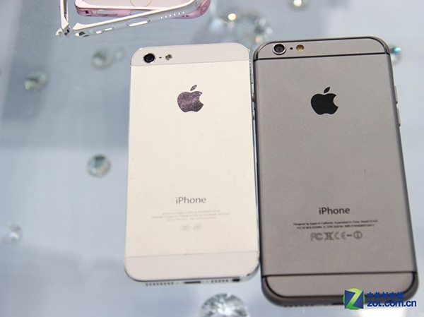 iPhone 6 compared to iPhone 5 in these photos