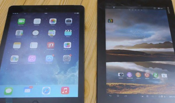 iPad Air vs Sony Xperia Tablet Z, overall winner
