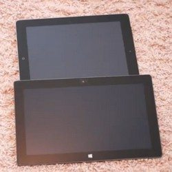 iPad 3 vs Microsoft Surface, booting & size comparison