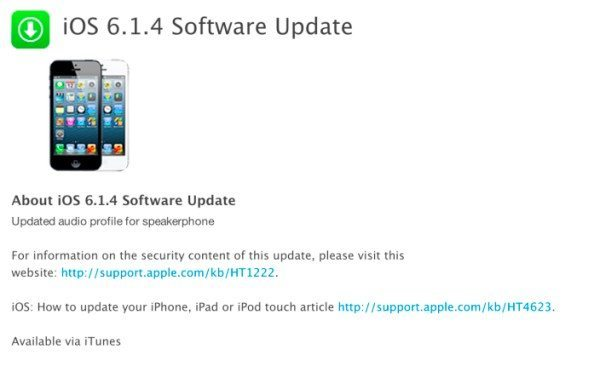 how to update software on iphone iphone 5 ios 6 1 4 update and intrigue ineffectual 19252