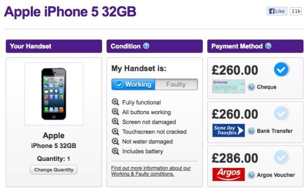 iphone 5 price with mazuma