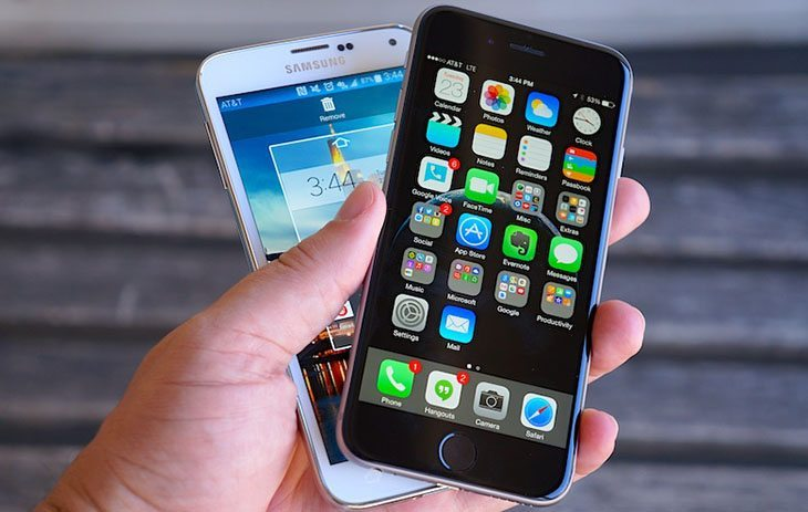 Apple and Samsung go head to head in global market share