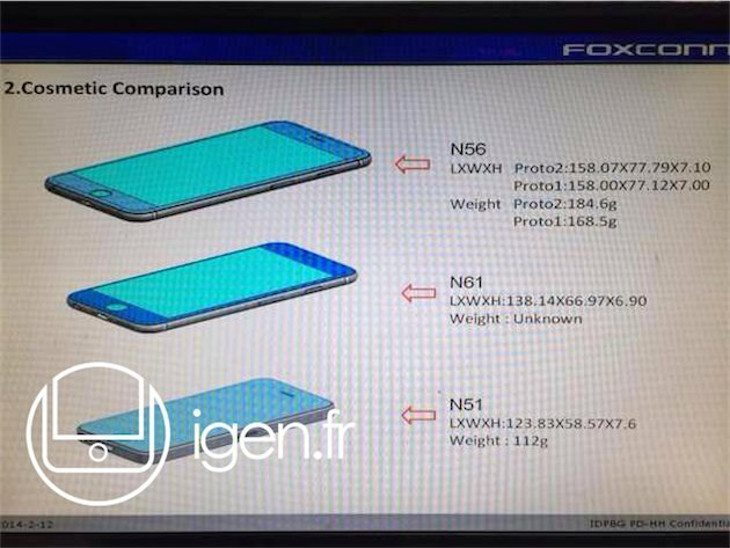 New iPhone 6 leak shows the dimensions of both new handsets