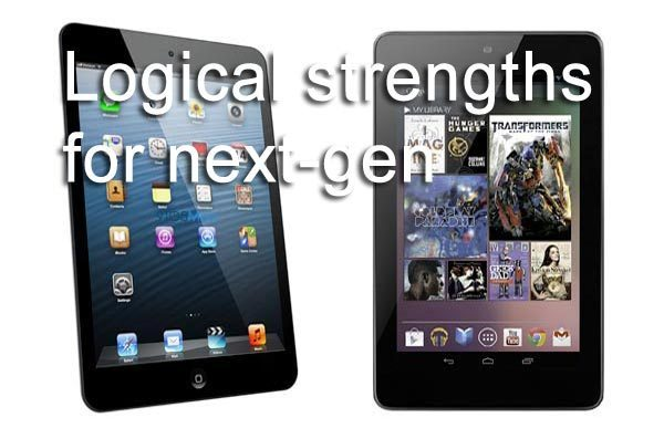 iPad mini 2 vs. Nexus 7 2 for logical strengths