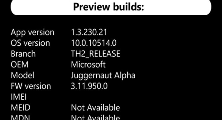 Surface Mobile phone specs leak under Juggernaut Alpha moniker