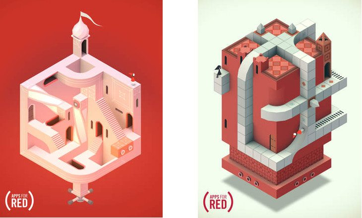 Apple's RED App campaign brings Ida's RED Dream to Monument Valley