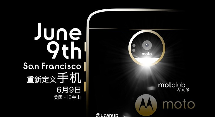Moto Z Smartphones set to debut on June 9th