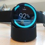 moto 360 smartwatch and charger
