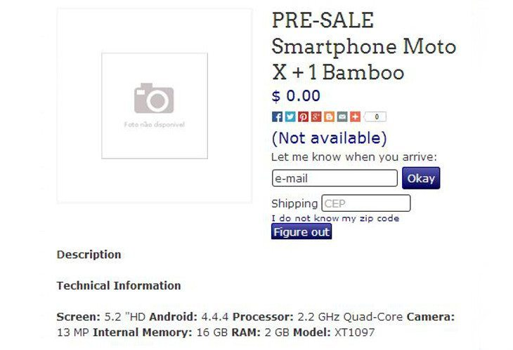 Moto G and Moto X+1 show up on Brazilian Retailers Site