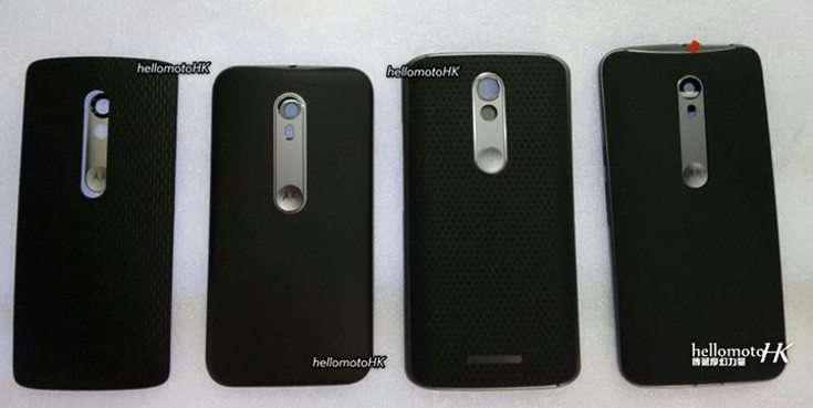 Back panels for the Motorola 2015 lineup appear online