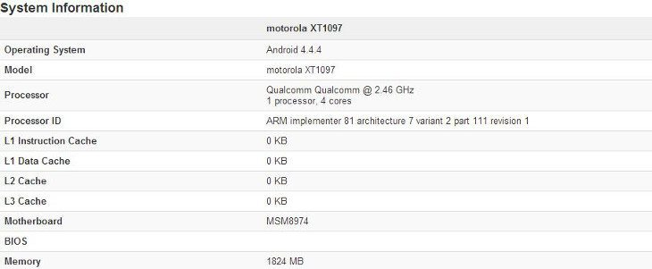 New Moto X+1 specs leak shows a Snapdragon 801