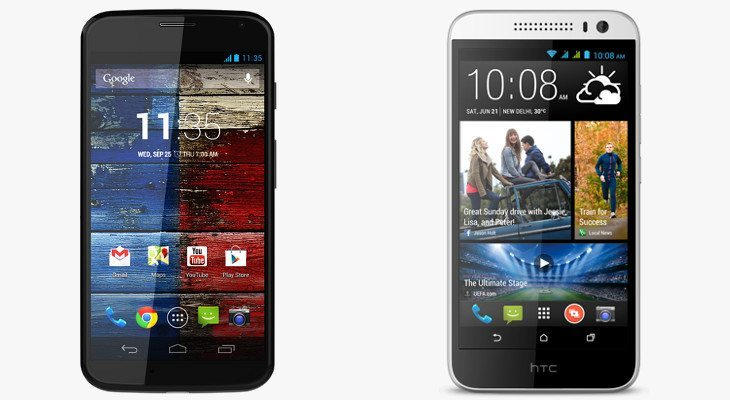 HTC Desire 616 vs. Moto G for price and features