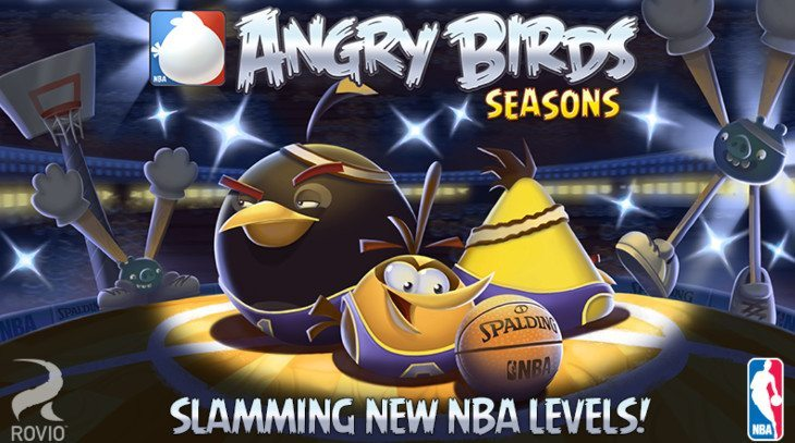 Angry Birds Seasons gets an NBA Ham Dunk update