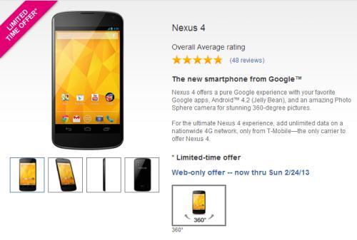 nexus 4 free