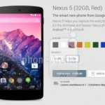 nexus 5 colour