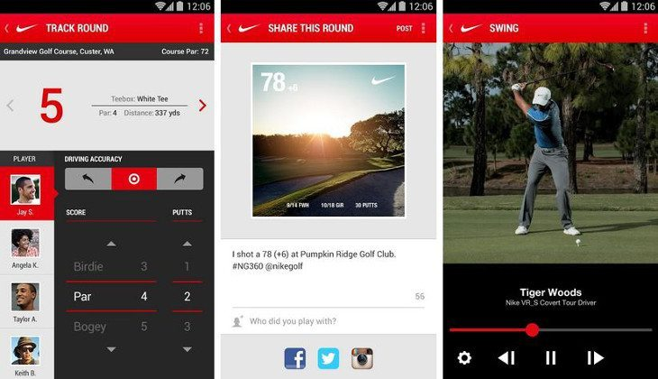 nike golf 360 app for android