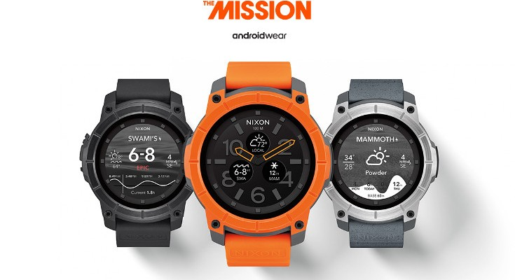 Durable Nixon Mission Smartwatch announced with Android Wear