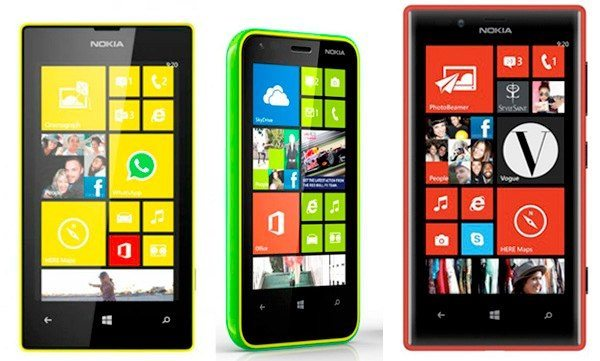 Nokia Lumia 620 vs. 720 and 520 in visual review