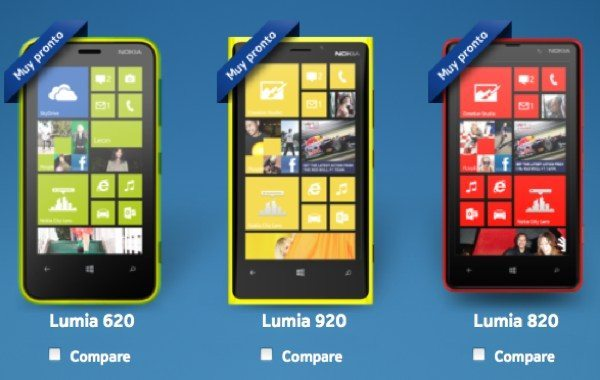 Nokia Lumia 920, 820 & 620 likely release for Mexico